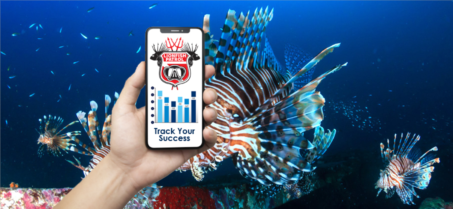 Lionfish Patrol App Phone Banner