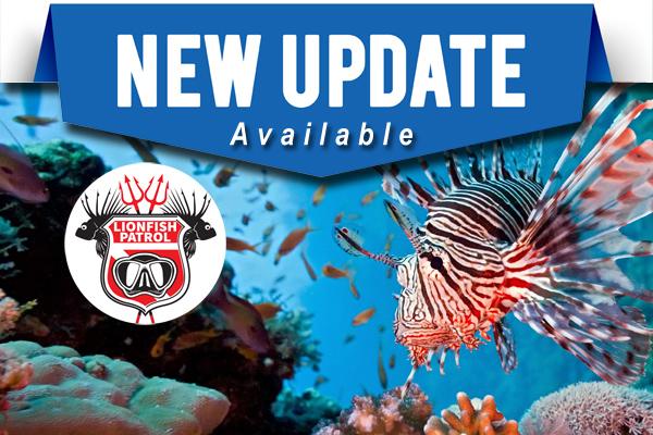 Lionfish Patrol App Updates